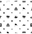 vacation icons pattern seamless white background vector image vector image