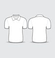 white polo t shirt vector image vector image