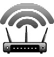 witeless router and modem vector image