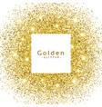 abstract golden glitter sparkles frame vector image