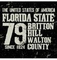 Florida T-shirt fashion Typography vector image