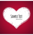 Doodle Heart on Red Background vector image