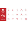 15 colorful icons vector image vector image