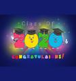 2020 graduates characters vector image vector image