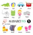 alphabet fun 1 vector image