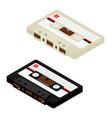 audio cassettte tape vector image