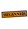 beginner stamp on white vector image vector image