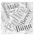 bunn coffee Word Cloud Concept vector image vector image