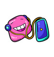 cartoon funny character listening vector image vector image