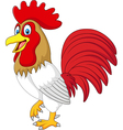 Cartoon funny chicken rooster isolated vector image vector image