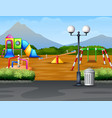 cartoon urban park kids playground in the nature b vector image vector image