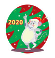 christmas mouse 8 vector image vector image