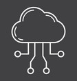 cloud computing line icon seo and development vector image vector image