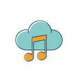 cloud computing note musical melody sound music vector image