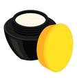 colorful cartoon open face cream jar vector image vector image