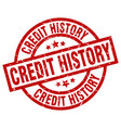 credit history round red grunge stamp vector image vector image
