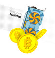 cryptocurrency mining concept vector image vector image