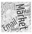 direct email marketing Word Cloud Concept vector image vector image