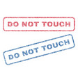 do not touch textile stamps vector image vector image