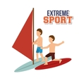 extreme sport water surfing windsurfer vector image