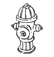 Fire Hydrant Line Drawing vector image
