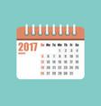 flat calendar year 2017 set vector image vector image