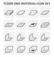 floor material icon vector image