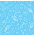 food seamless background vector image vector image