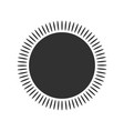 geometric sun with rays circle element made of vector image vector image