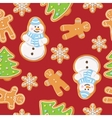 Ginger cookies seamless pattern vector image vector image