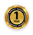 gold guarantee sign 1 year warranty label