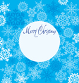 Greeting card Merry Christmas with snowflakes vector image vector image