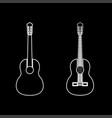 guitar white color path icon vector image vector image