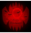 Halloween background with sharp teeth vector image