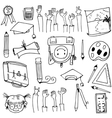 Hand draw doodles school education vector image vector image