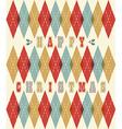 Happy christmas retro geometric pattern vector image