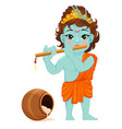 happy janmashtami celebrating birth of krishna vector image vector image