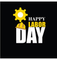 happy labor day banner design template vector image vector image