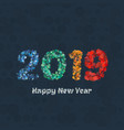 happy new year 2019 background calendar vector image