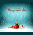 happy new year calligraphic red insption cute vector image