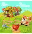 Hunting Fox Farm Composition vector image vector image