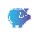 line pig to save cash money vector image vector image