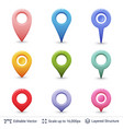 location pins set vector image vector image