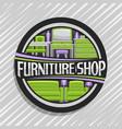 logo for furniture shop vector image vector image