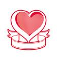 Loving heart symbol vector image vector image