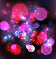 Magic Lights Bokeh Blurred Background vector image vector image