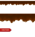 Melted Chocolate Drips Seamless Border vector image vector image