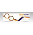 modern yellow blue hexagon header design backgroun vector image vector image