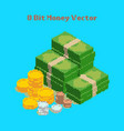 money 8 bit pixelated vector image vector image