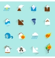 Natural disaster icons flat vector image